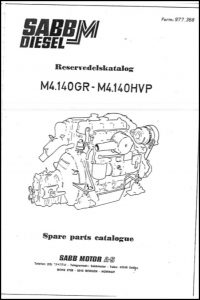 Sabb Mitsubishi M4.140GR marine diesel engine Spare Parts Catalogue
