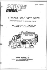 Sabb Mitsubishi M4.210GR marine diesel engine Spare Parts Catalogue