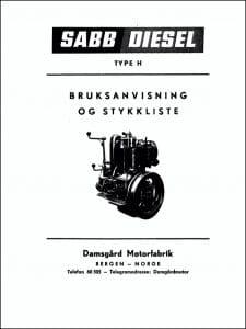 Sabb Type H dieselmotor Swedish