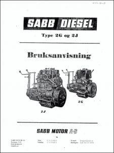 Sabb Type 2G 2J Bruksanvisning