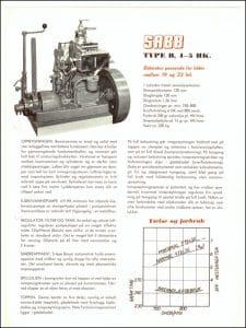 Sabb Type B dieselmotor brosjyre