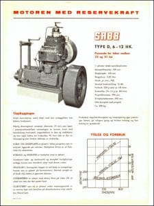 Sabb Type D dieselmotor brosjyre