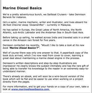 SailboatCruising text of review Jan 2018 text