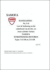 Samofa S8 Manual 1954 Dutch