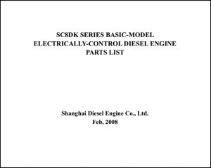 Shanghai SC8DK diesel engine Parts List