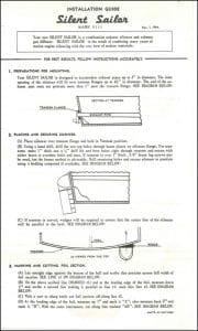 Silent Sailor Installation Guide 1964