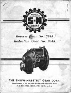 Snow Nabstedt Marine Gear 3745 Manual