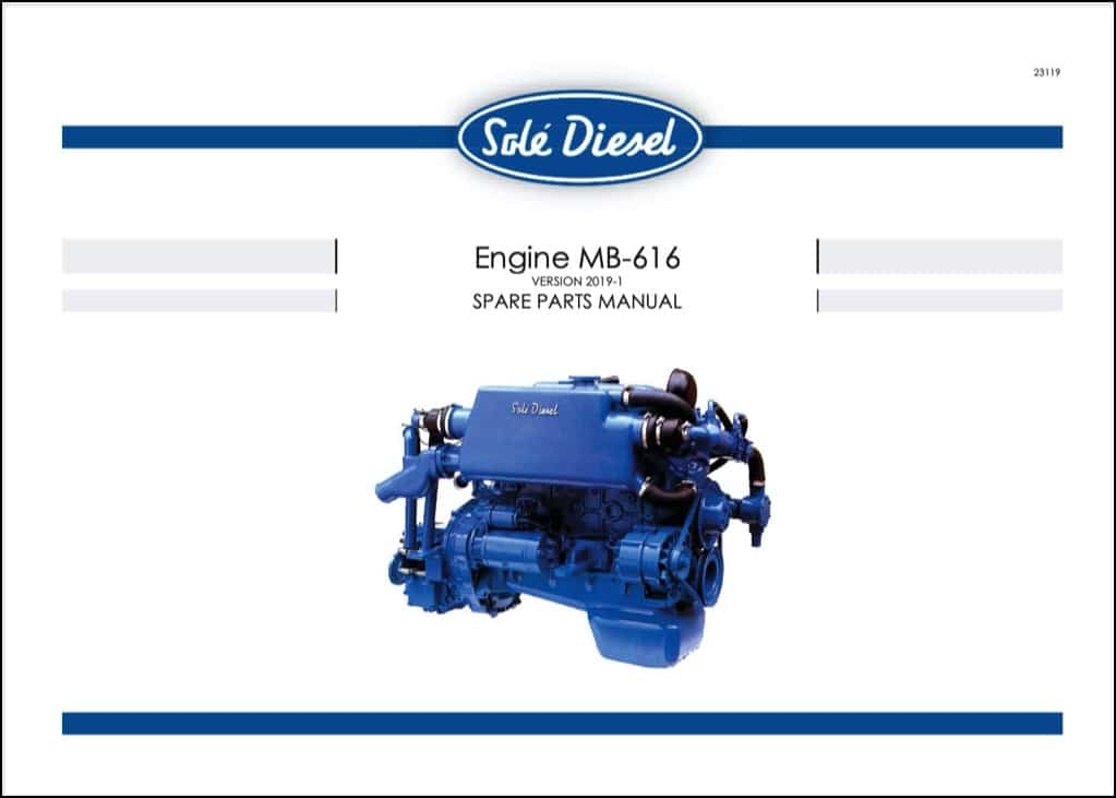 Sole MB-616 diesel engine spare parts manual