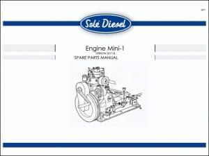Sole Mini 1 marine diesel engine Spare Parts Manual