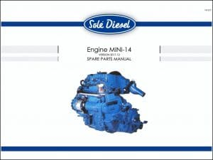 Sole Mini 14 diesel engine Spare Parts Manual