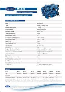Sole Mini-29 diesel engine Datasheet