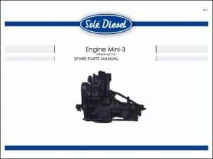 Sole Mini 3 diesel engine Spare Parts Manual