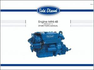 Solé Mini 48 diesel engine Spare Parts Manual