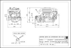 Solé Mini 62 Diesel Engine Drawings