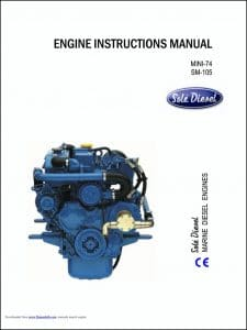 Sole Mini-74 marine diesel engine Instructions Manual