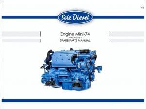 Solé Mini 74 diesel engine Spare Parts Manual