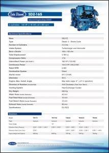 Sole SDZ-165 Diesel Engine Brochure