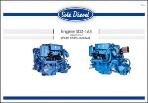 Solé SDZ-165 Diesel Engine Spare Parts Manual