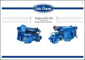 Solé SDZ-205 Diesel Engine Spare Parts Manual