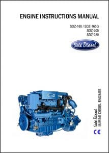 Solé SDZ-280 Diesel Engine Instruction Manual