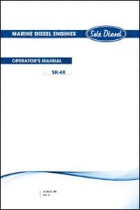 Solé SK60 Diesel Engine Operator's Manual