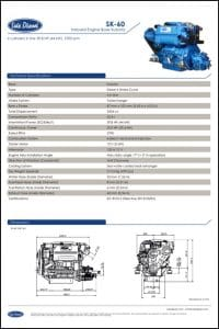 Solé SK60 Diesel Engine Technical Specifications