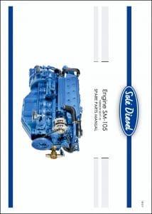 Solé SM-105 marine diesel engine Spare Parts Manual
