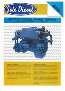 Sole SM-616 marine diesel Datasheet in Italian