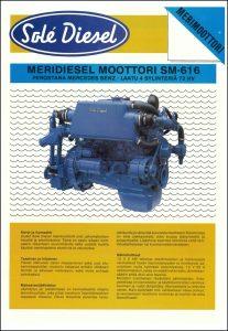 Sole SM-616 Mercedes marine diesel Datasheet in Finnish