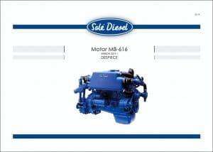 Sole SM-616 Mercedes marine diesel Parts List in Spanish