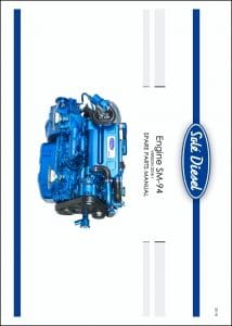 Solé SM-94 marine diesel engine Spare Parts Manual