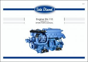 Solé SN-110 marine diesel engine Spare Parts Manual