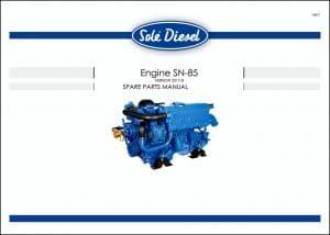 Solé SN-85 marine diesel engine Spare Parts Manual