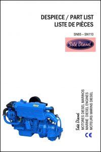 Sole SN85 marine diesel engine Part List