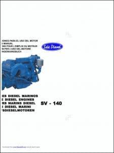 Solé SV-140 marine diesel engine Instructions Manual