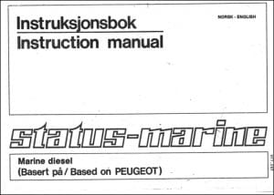 Status Marine Peugeot XDP4.90 Instruction Manual