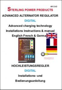 Sterling AR12VD Alternator Regulator Instructions A