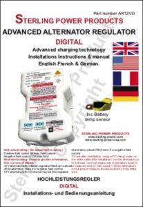 Sterling AR12VD Alternator Regulator Instructions B