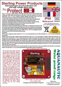 Sterling Alternator Protector Technical Sheet