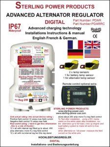 Sterling Alternator Regulator Pro Reg DW Installation & Manual
