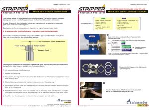 Rope Stripper AM20 Installation and Service Instructions