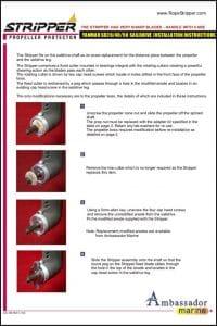 Ambassador Marine Rope Stripper for Yanmar SD20 Installation Instructions