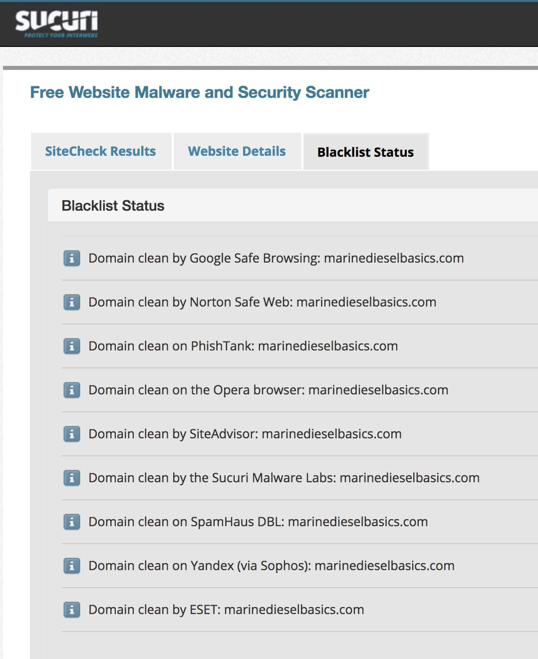 Who is scanning the security of the MDB website?