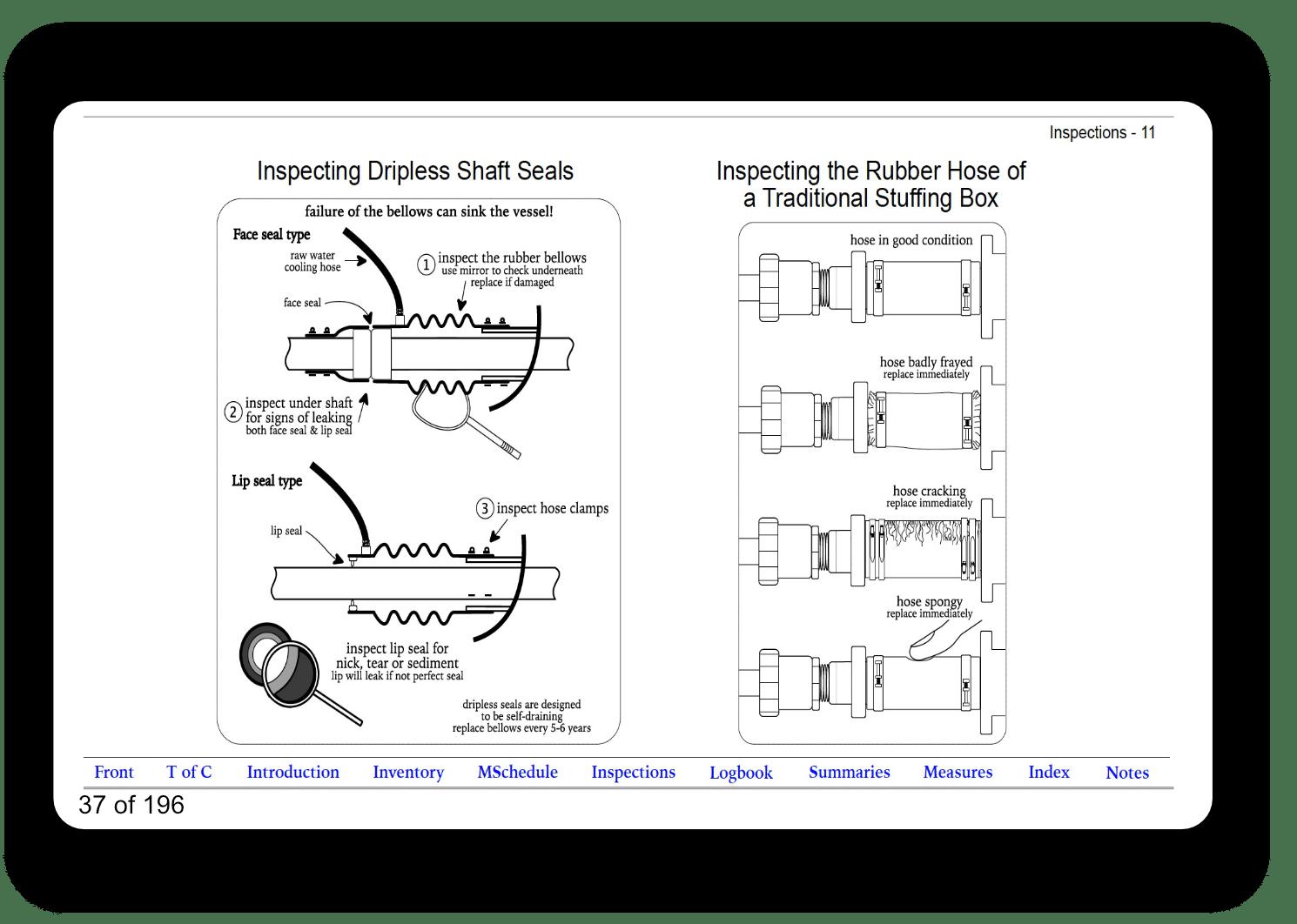 Mantenance eLogbook Marine Diesel Basics sample Inspections