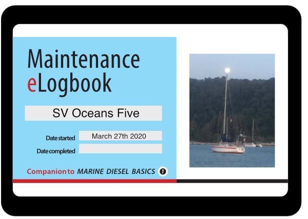 Marine Diesel Basics Maintenance eLogbook sample