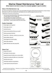 diesel engine illustrated Maintenance Task List from Marine Diesel Basics