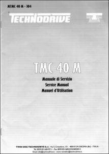 Technodrive TMC 40M marine transmission Service Manual