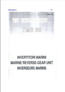 Technodrive TMC 60 Marine Transmission Parts List