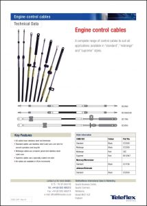 Teleflex Engine Control Cables Information Sheet