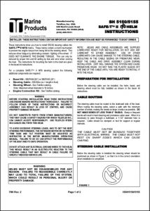 Teleflex SSC62 Steering Cables Instructions